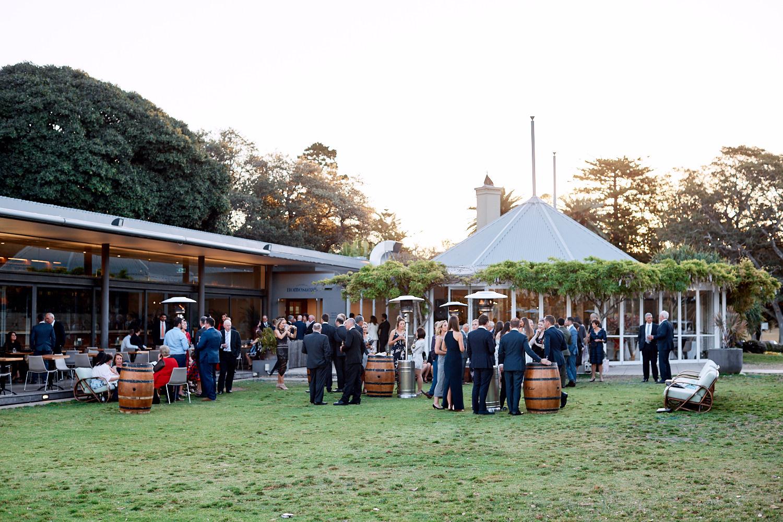 Guests having canapés at Centennial Homestead wedding