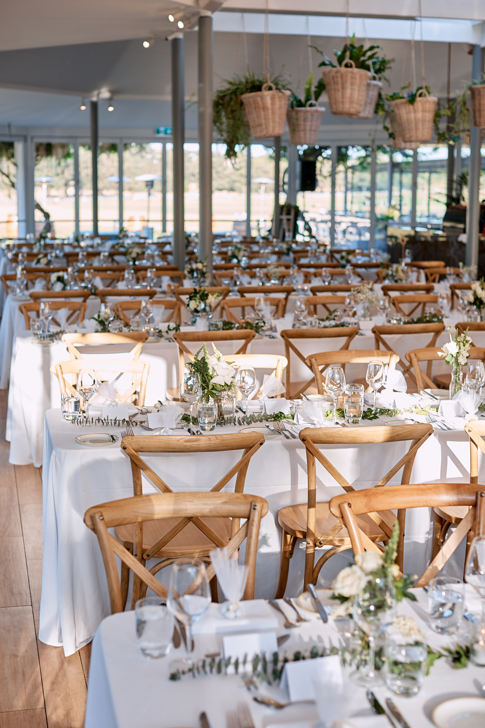 Tables and chairs at Centennial Homestead wedding