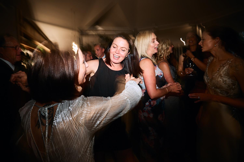 Dance floor at at Centennial Homestead wedding