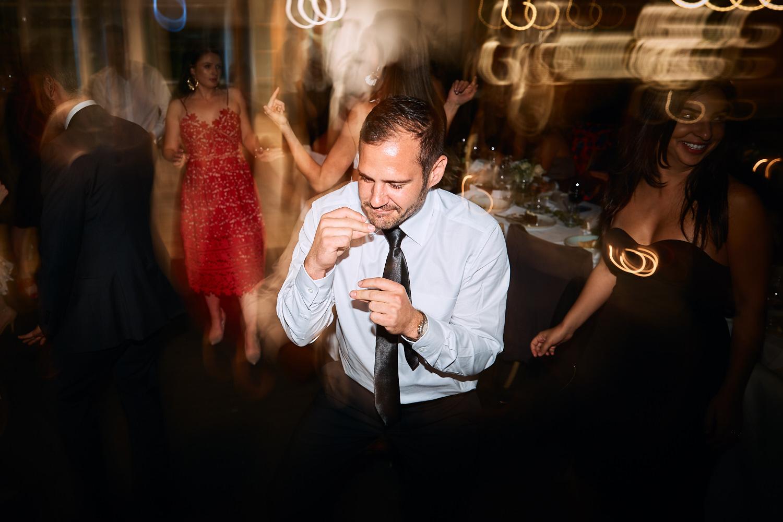 Dance floor at Centennial Homestead wedding