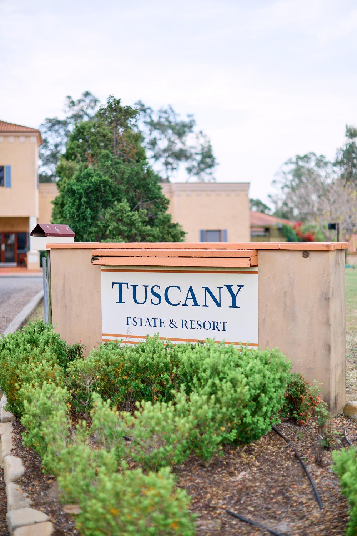 Estate Tuscany Sign by wedding photographer Joshua Witheford