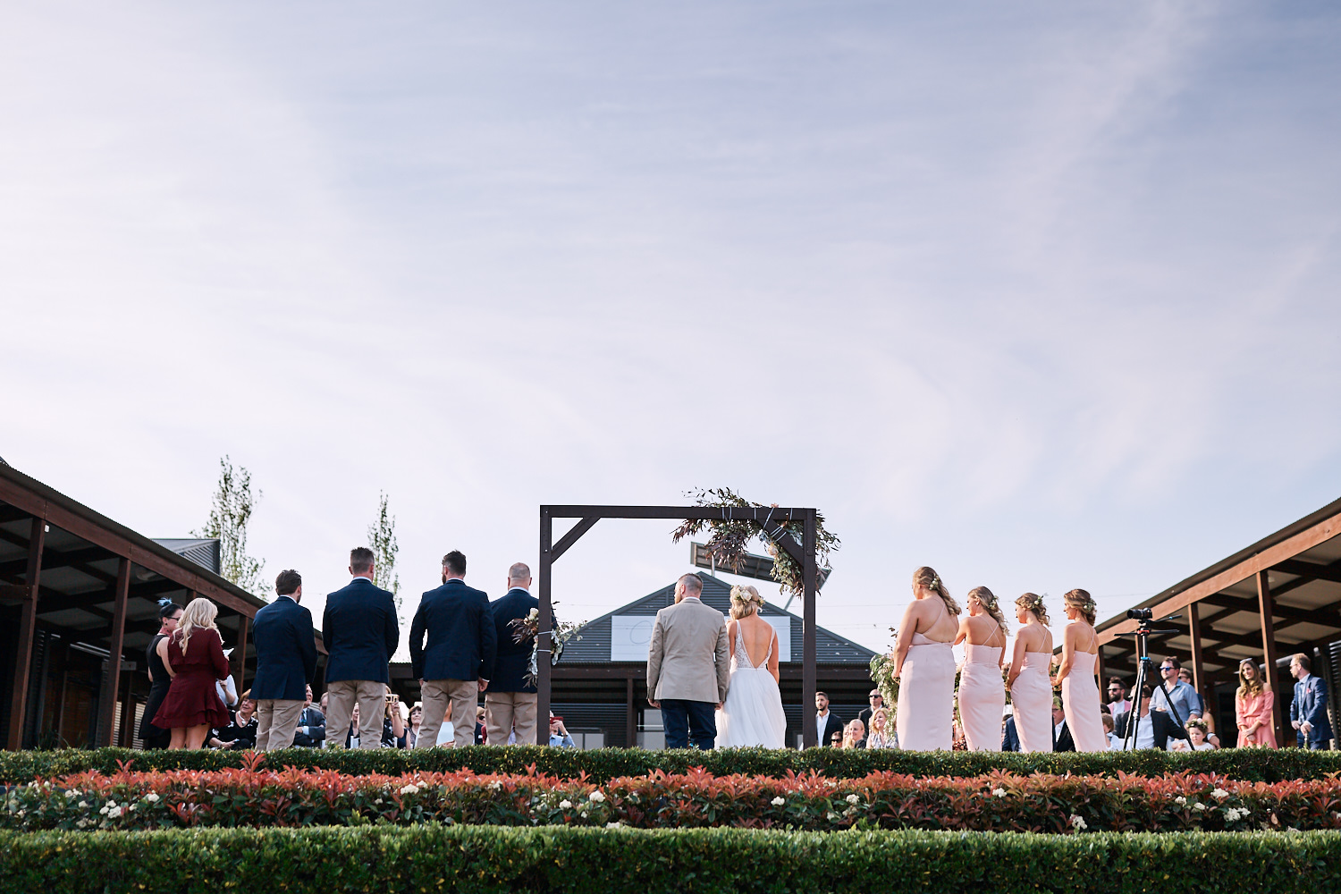 Wedding ceremony at Estate Tuscany Pokolbin in the Hunter Valley by wedding photographer Joshua Witheford