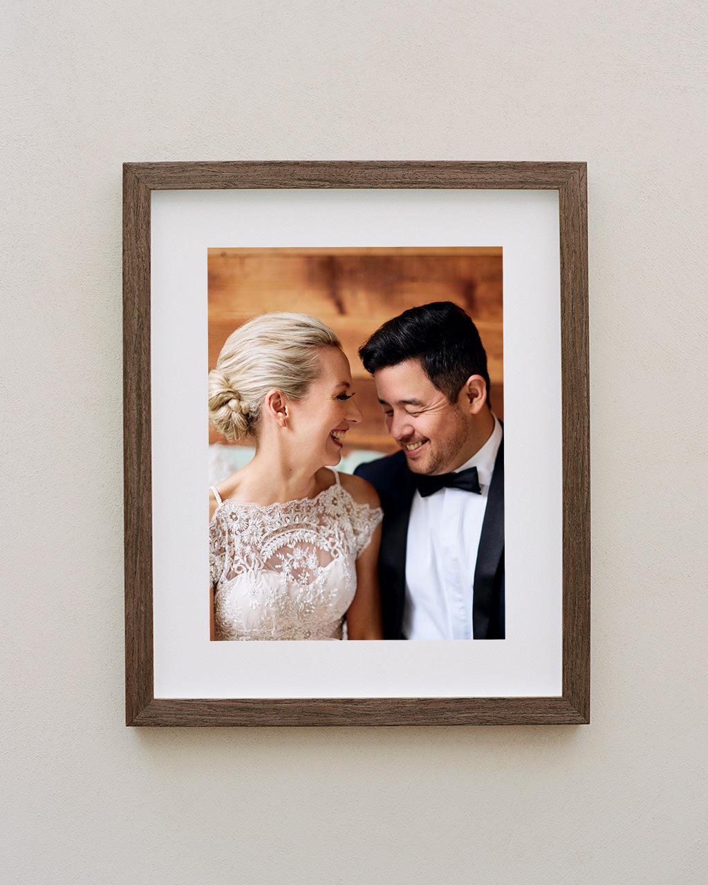 Framed portrait of bride and groom at their Sydney Royal Botanic Gardens wedding