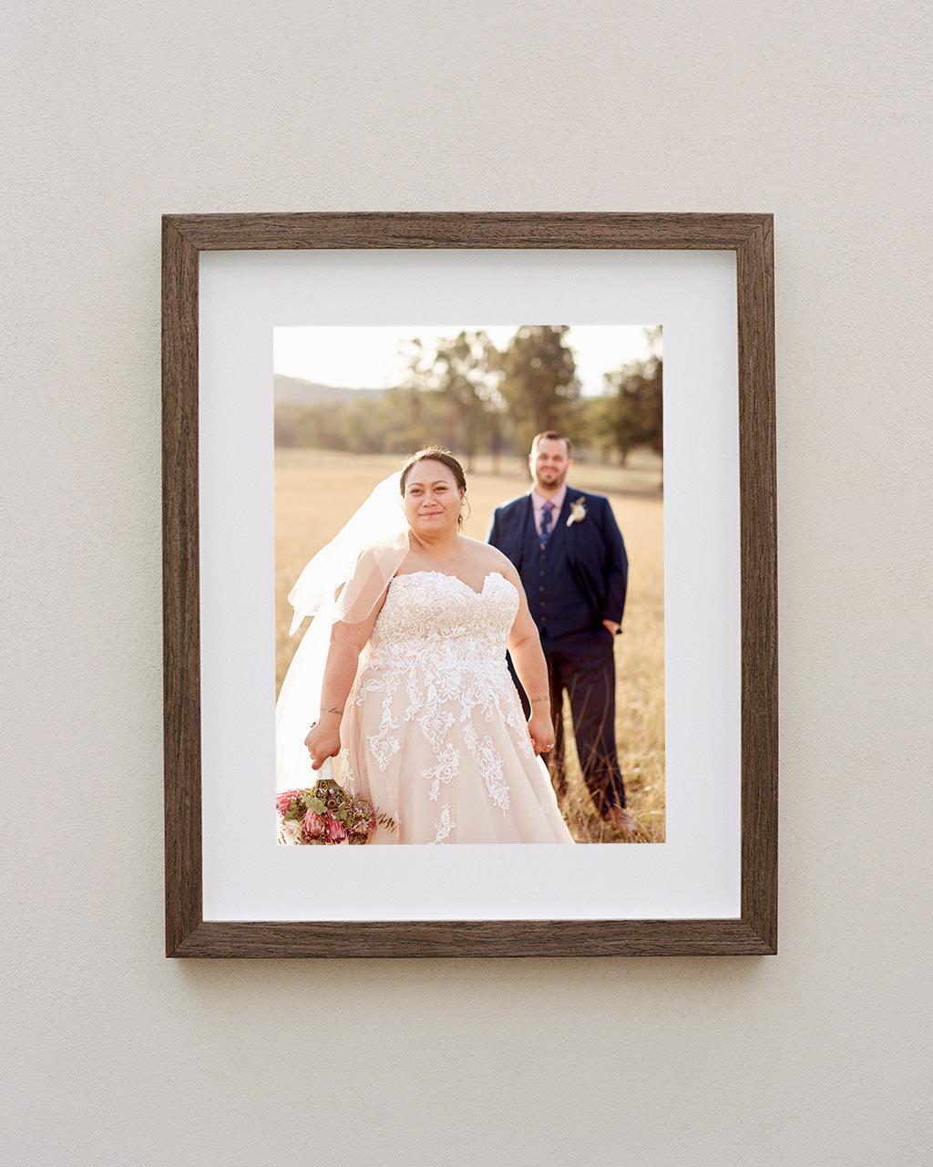 Framed portrait of bride and groom at Adams Peak Country Estate