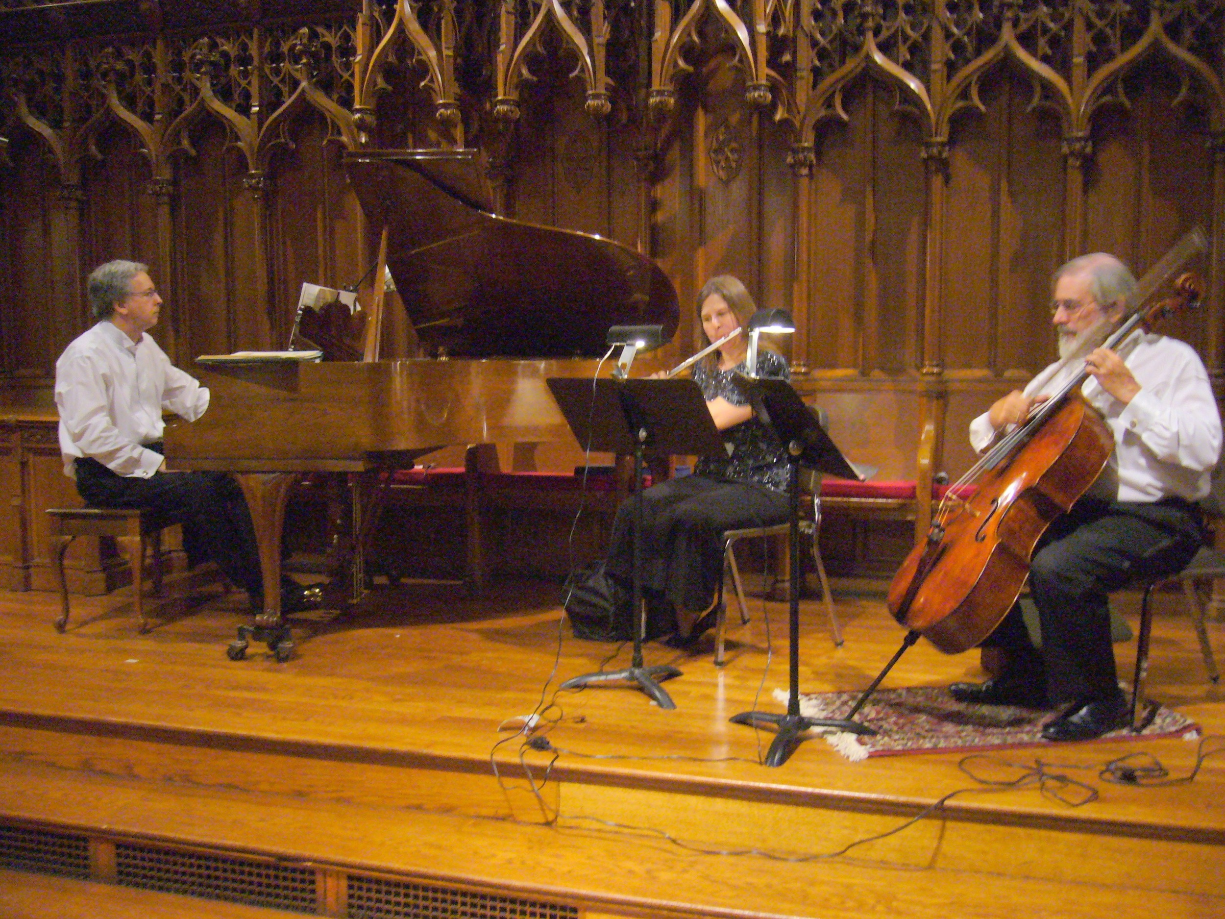 """""""Bliss and Friends"""" rehearsal, Concert at Carmel, with Charles Abramovic and Lloyd Smith, 2008"""