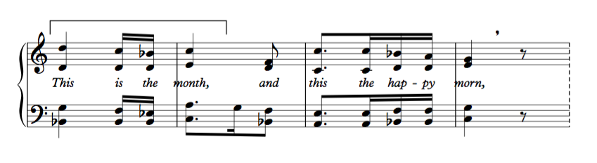 Opening of Vincent Persichetti's Christmas Hymn from the Hymns and Responses for the Church Year, Vol. 1