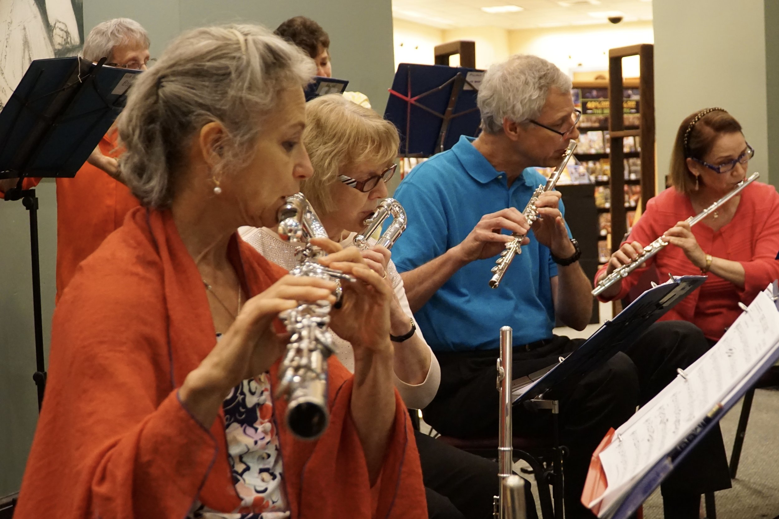 Low flutes and flutes, Barnes and Noble Concert, 2017