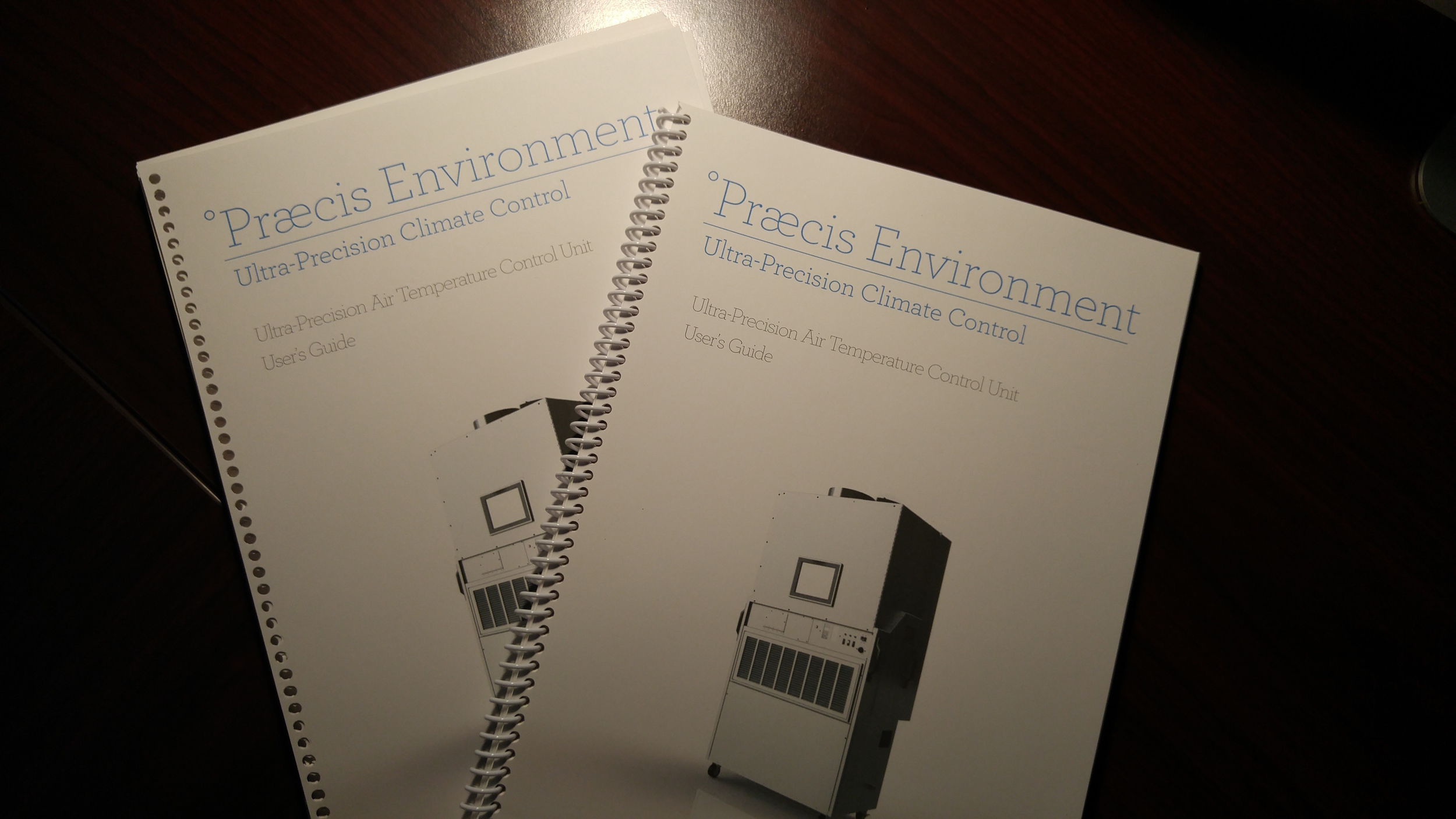 Praecis Environment Ultra Precision Temperature Control Manuals