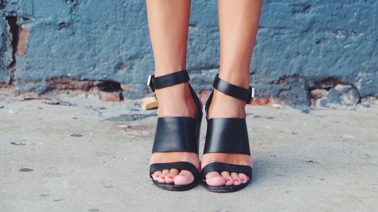 Black Givenchy Strappy Sandals on The Blonde Vagabond.jpeg