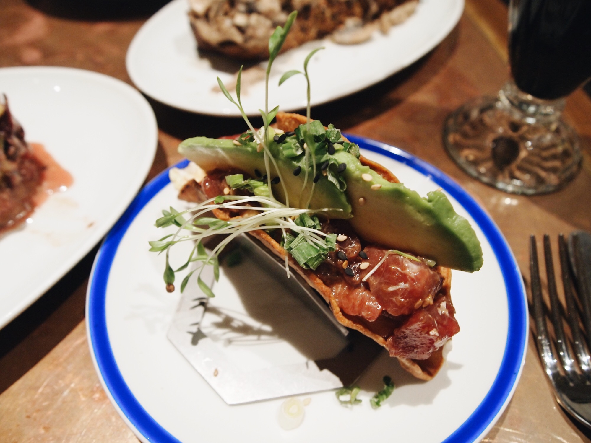 Tuna Taco's at Flax + Kale in Barcelona.JPG