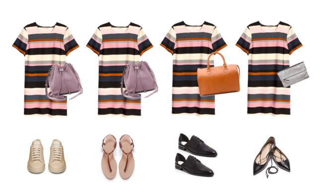 Striped Dress Styled 4 Ways