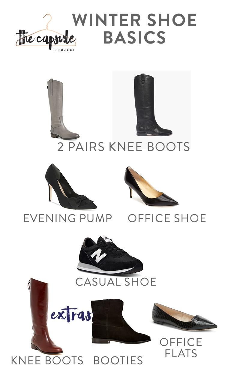 Complete Winter Shoe Wardrobe.