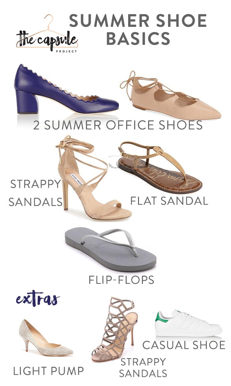 Complete Summer Shoe Wardrobe