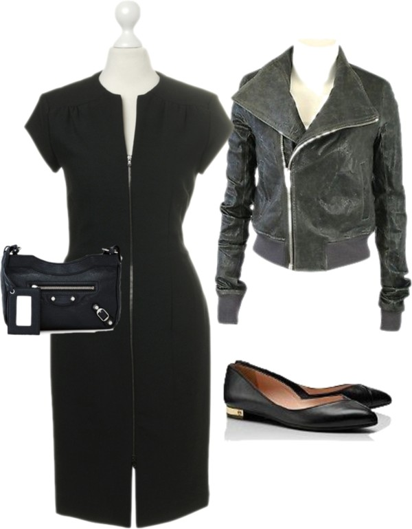 Laura selected classy and comfortable items from her Fall/Winter capsule wardrobe to wear to cocktail parties or industry events.