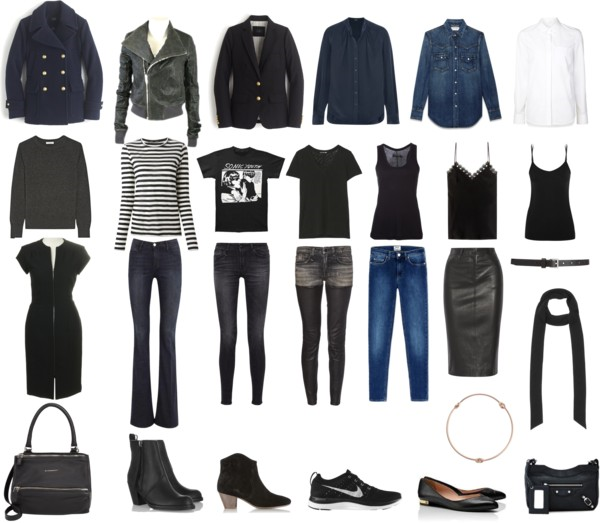 Laura's Fall/Winter Capsule Wardrobe - chic and comfortable with an edge.