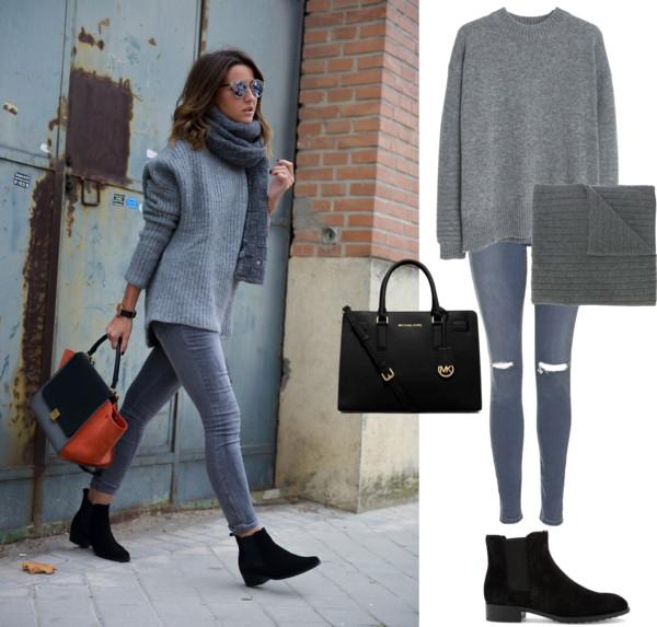 Grey Sweater + Skinny Jeans + Booties.jpg