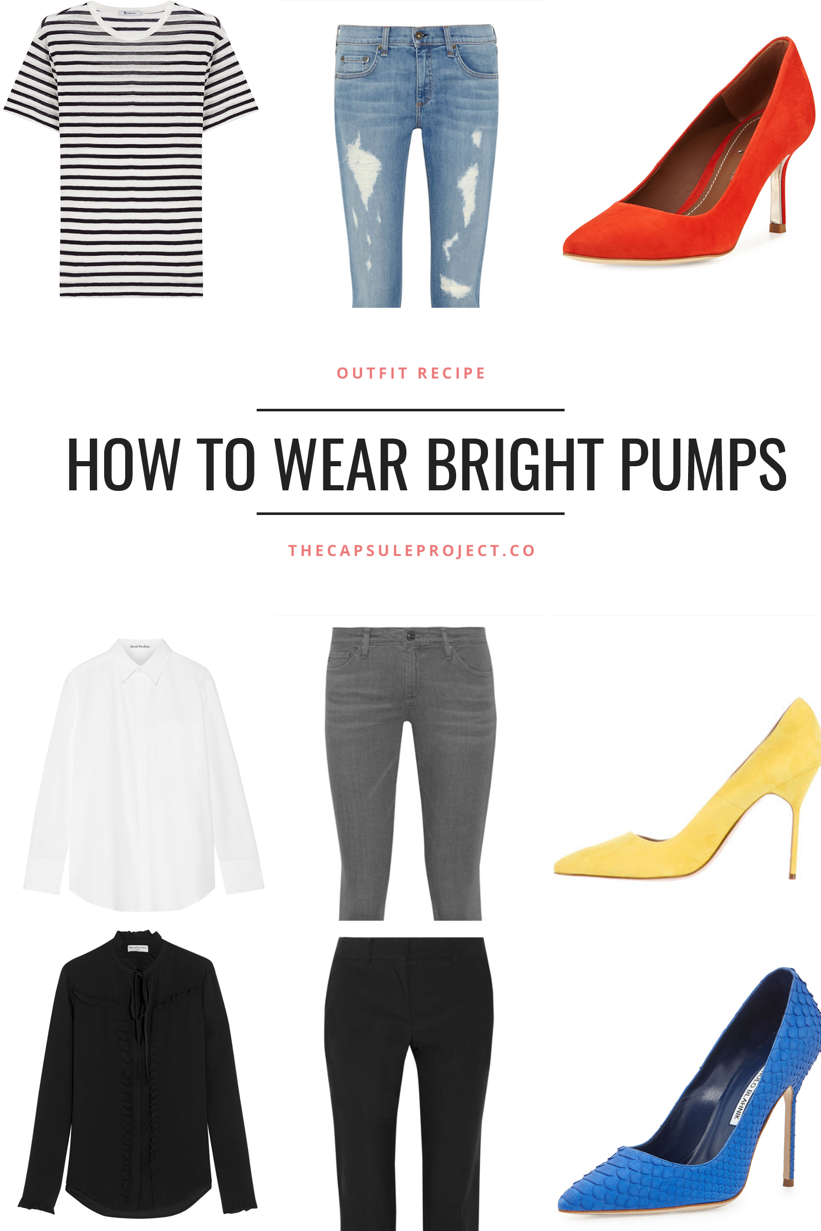 How to wear bright pumps