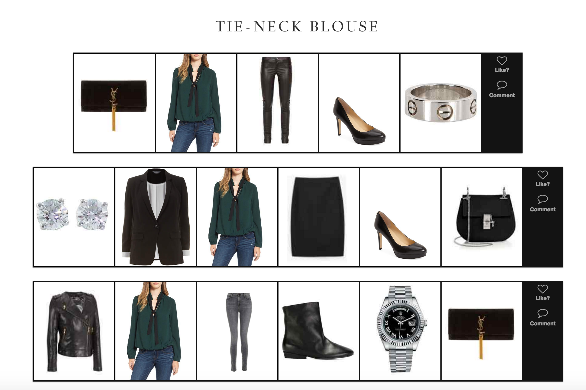 Three Ways to Style a Tie-Neck Blouse