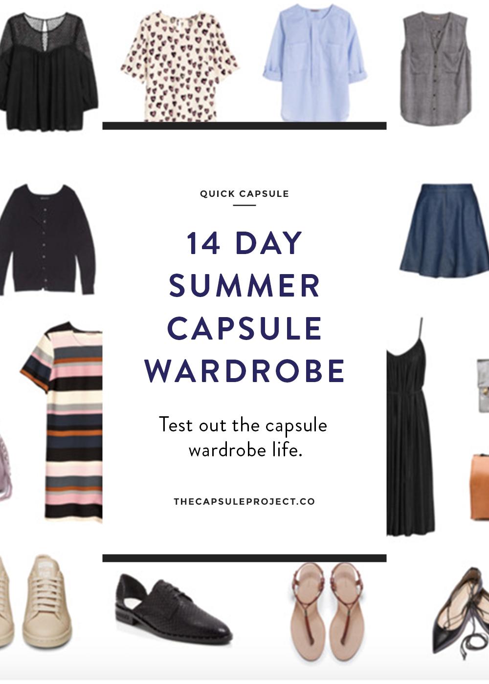 14 Day Summer Capsule Wardrobe