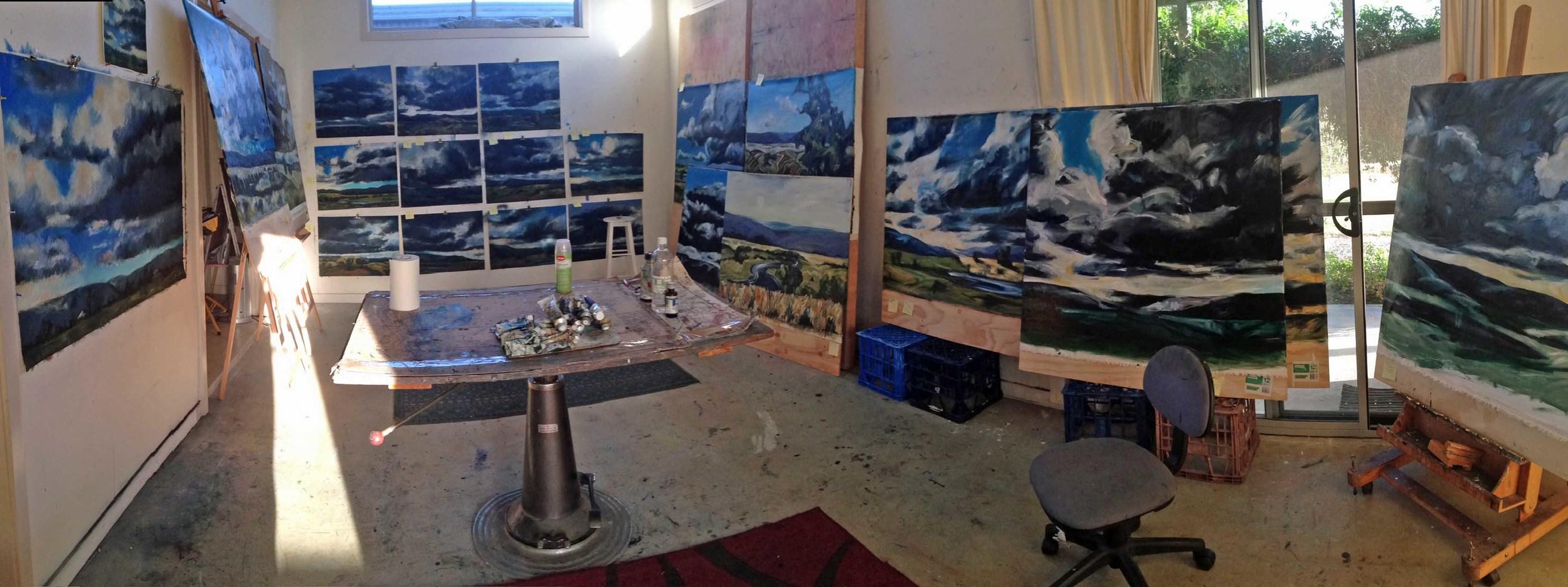 Studio chaos last week.