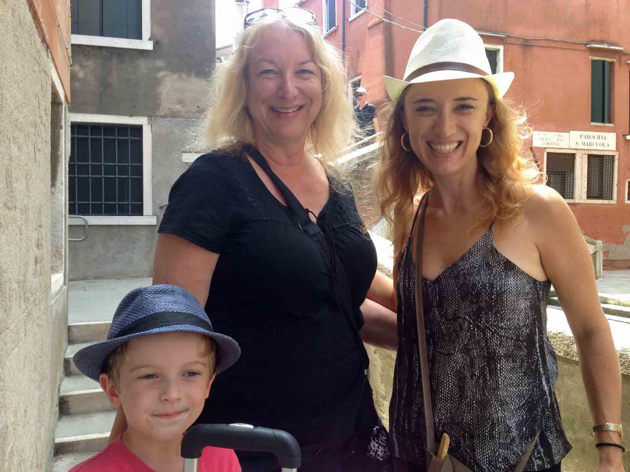 American art professor Nancy Hart who we visited in Venice. We met at San Cresci in 2014.