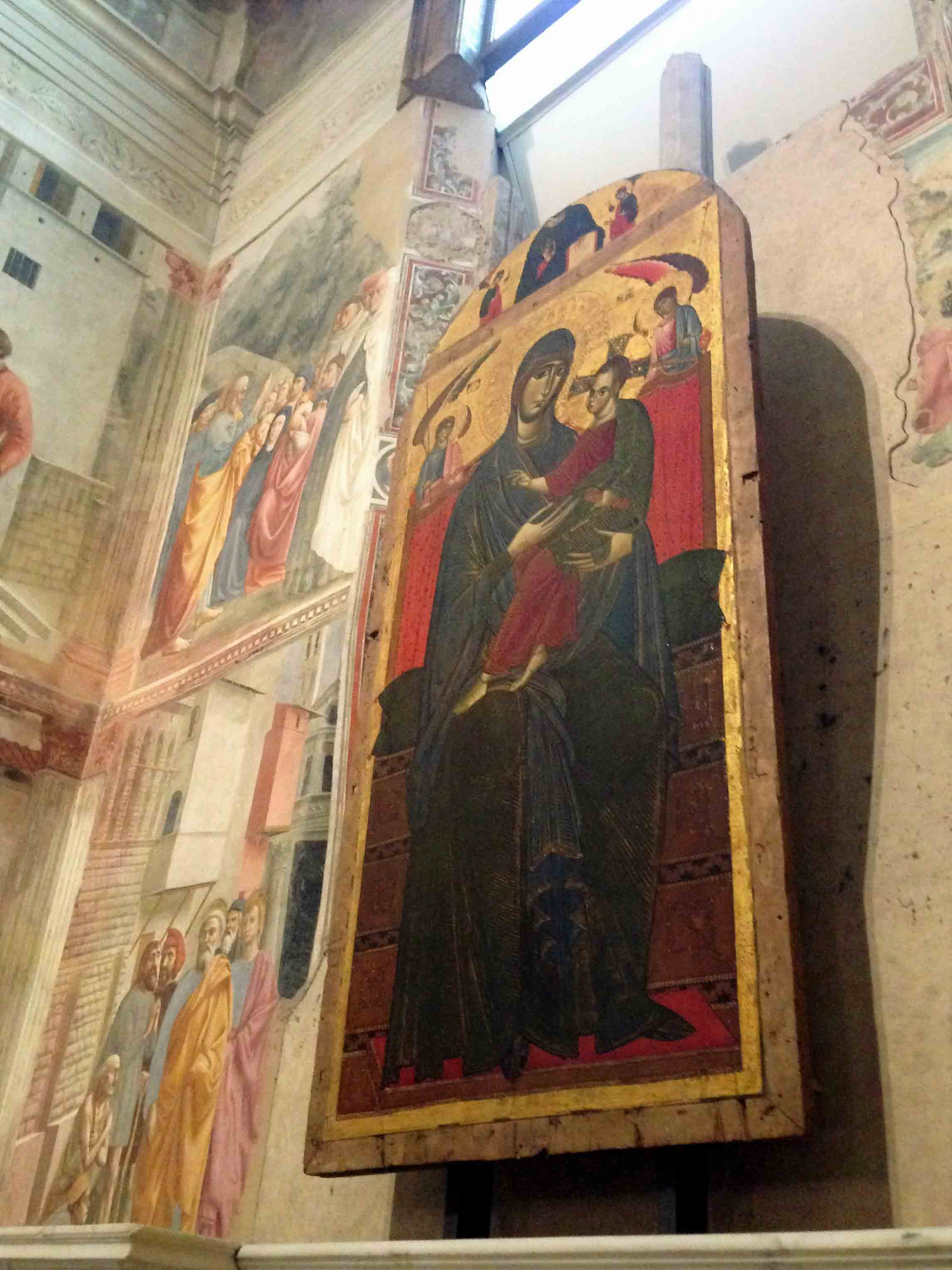 Artwork by Masolino & Masaccio at the Branacci Chapel Florence.