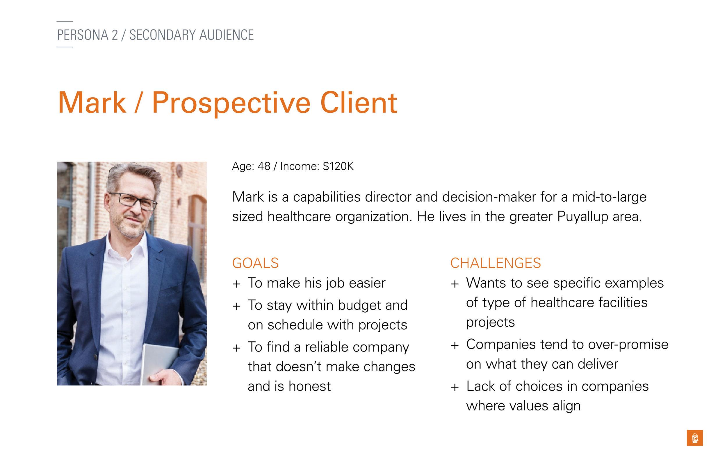 Mark, the Prospective Client persona