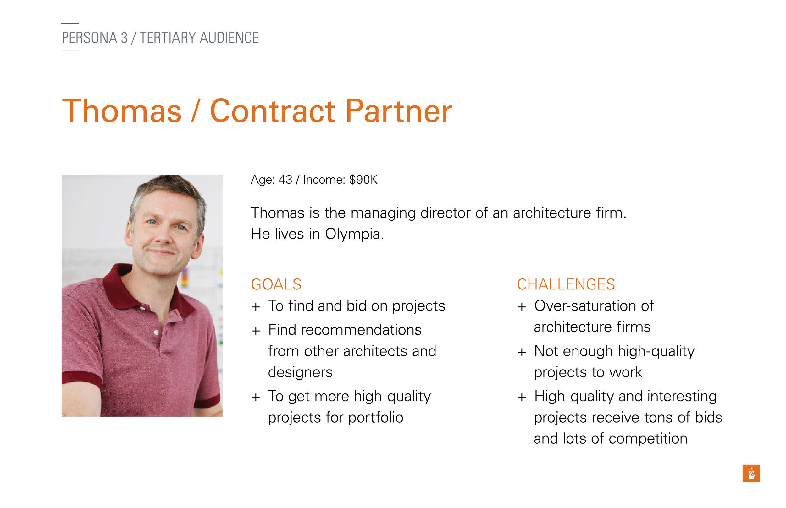 Thomas, the Contract Partner persona