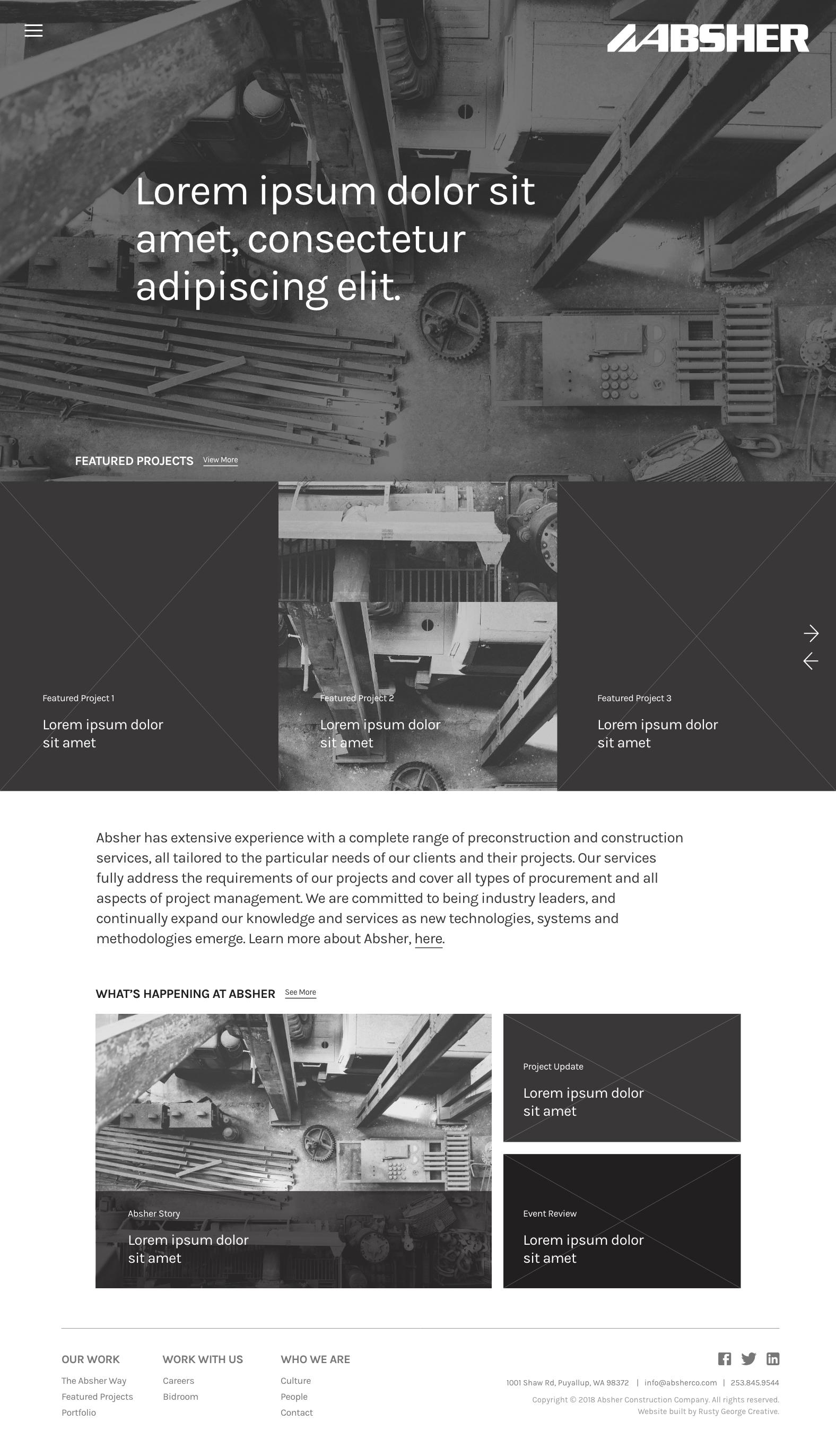 Homepage Wireframe
