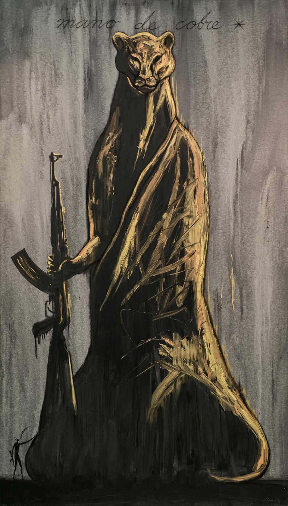 "mano de cobre –Acrylic on Canvas |H. 102.5"" x W. 59.5"" |2009"