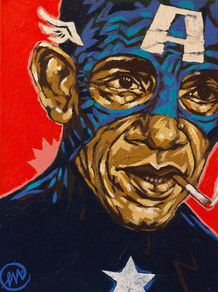 CAP'N  (2014)  ACRYLIC ON CANVAS,  18 X 24 INCHES_signed on front.jpg