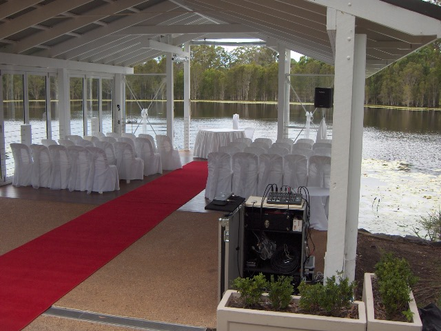 Another magical setting for Ceremony Sound at Laguna, Sirromet Winery.JPG