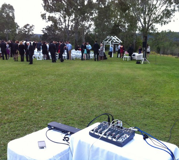 Remote system mixer set up for garden ceremony.JPG