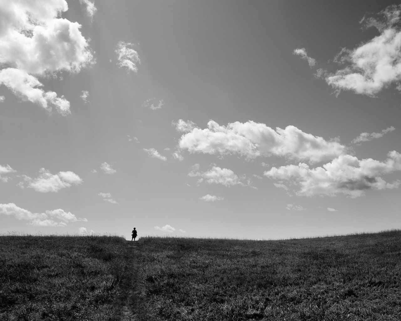 Standing on the Horizon, Clay Banks, Wisconsin, 2015