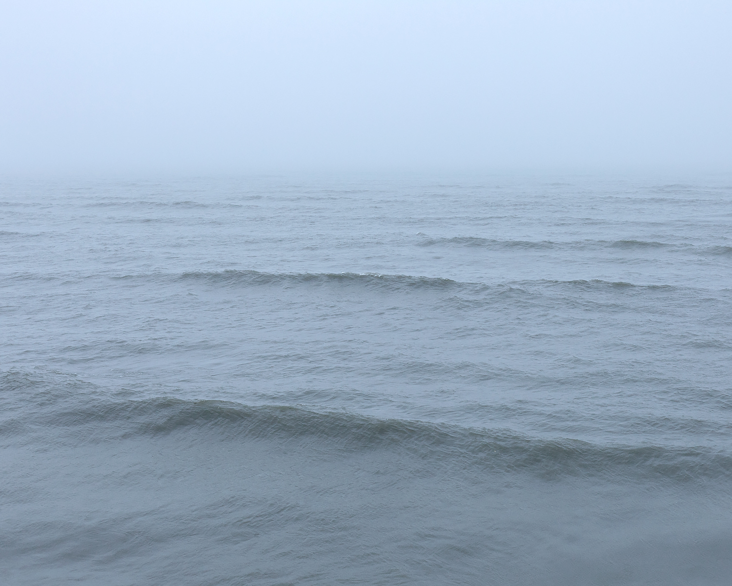 Lake Michigan Under Fog, Door County, Wisconsin, 2016