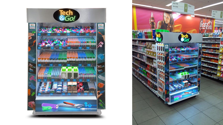 Las Vegas Walgreens Tech & Go display art. © E-filliate Inc.