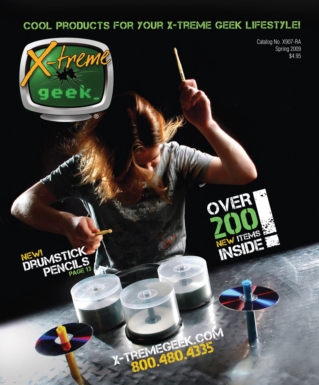 2009. X-treme Geek catalog cover. Art direction, photography, and design. © E-filliate Inc.