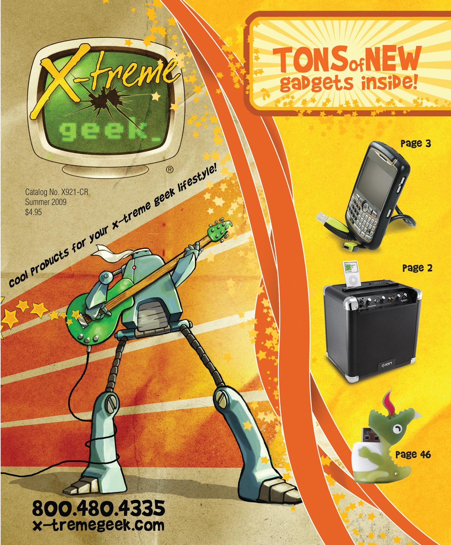 2009. X-treme Geek catalog cover. Art direction, illustration, and design. © E-filliate Inc.