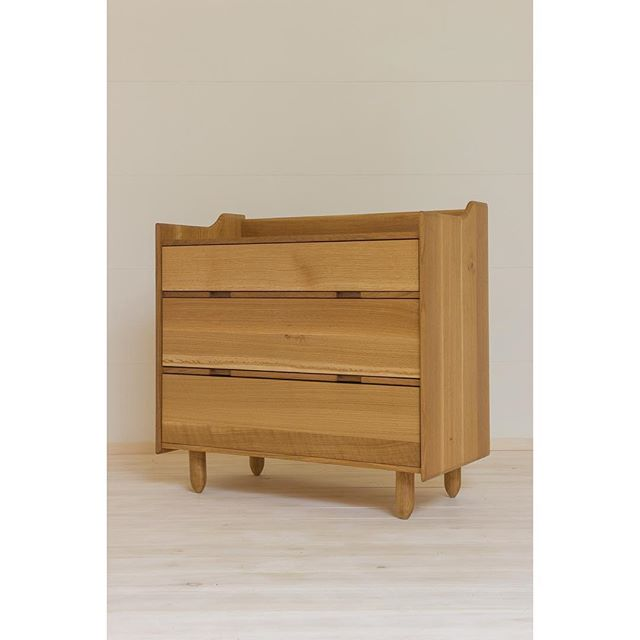 """""""Sons and daughters"""" dresser. Robert designed this as a pair for the arrival of his twins. Shown in white oak, this dresser worked as a changing table at first, and now as a dresser/playground:)"""