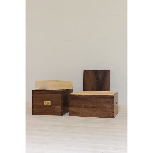 Pair of walnut hope chests. Solid walnut dovetailed box with Alaskan Cedar lining and tray. A perfect place to celebrate and store the most intimate memories.