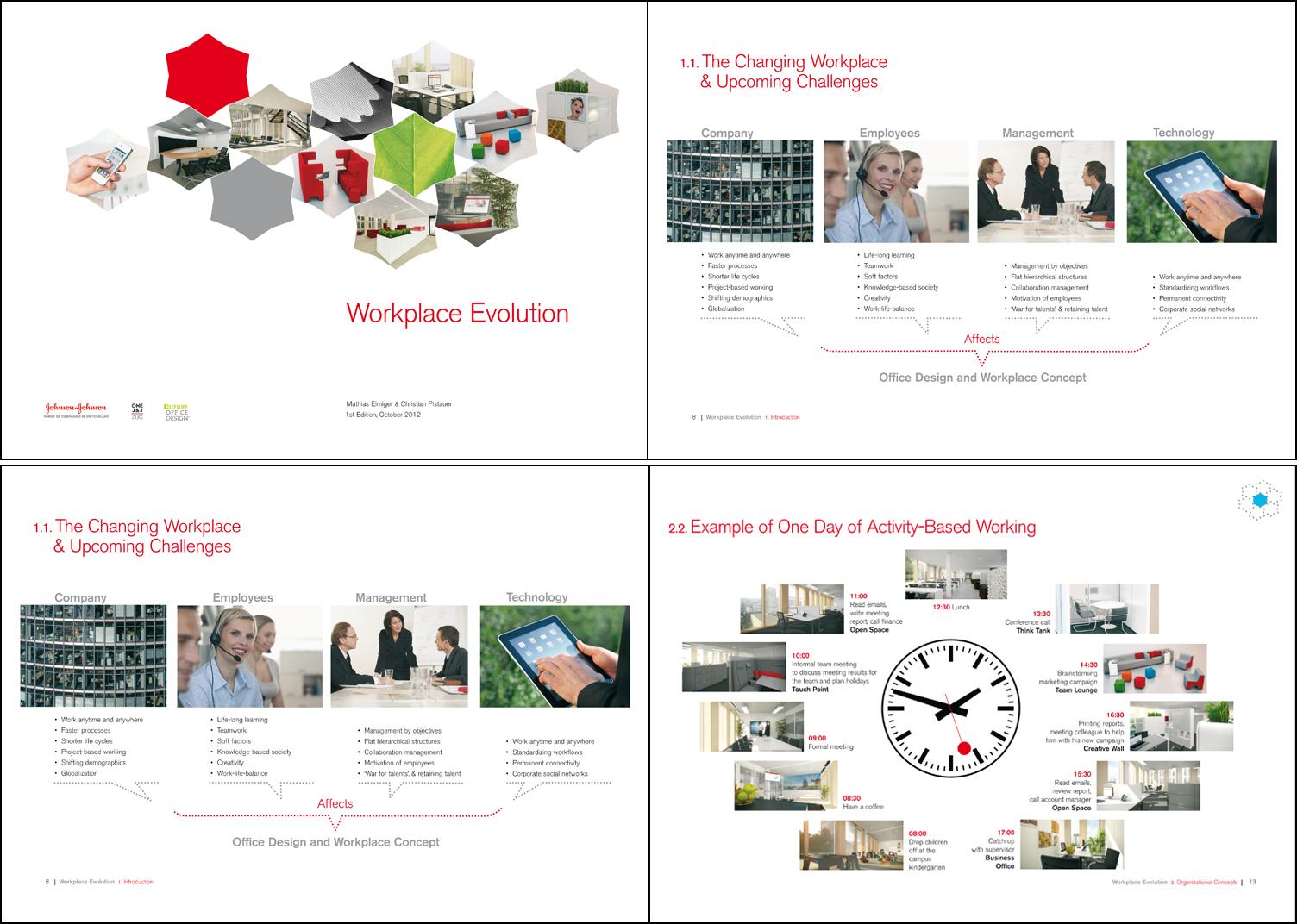 Brochure Workplace Evolution, Future Office Design, Johnson+Johnson, Zug, Swiss