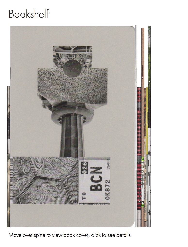 Virtual bookshelf by Josef Chladek for publisher Caravanbook