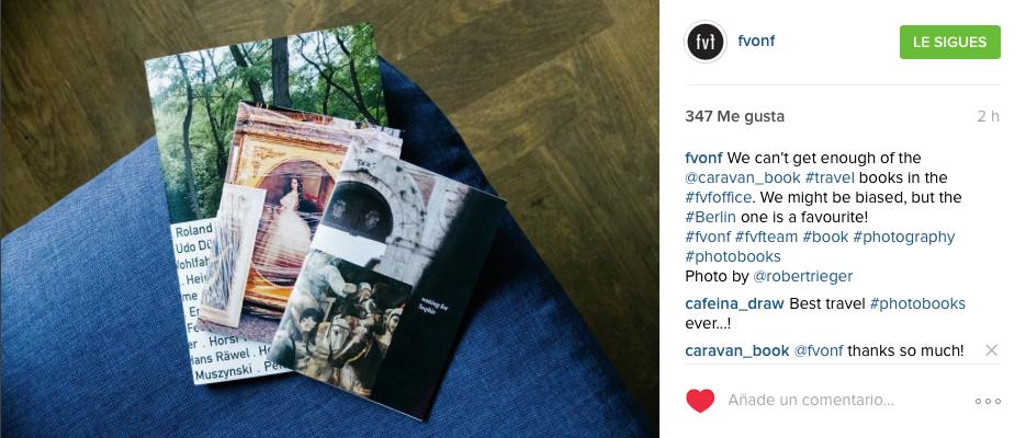 Caravanbook photobooks on Fvonf instagram account
