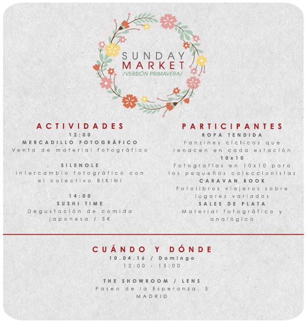Caravanbook participa en el Sunday Market de Lens Escuela en Madrid.