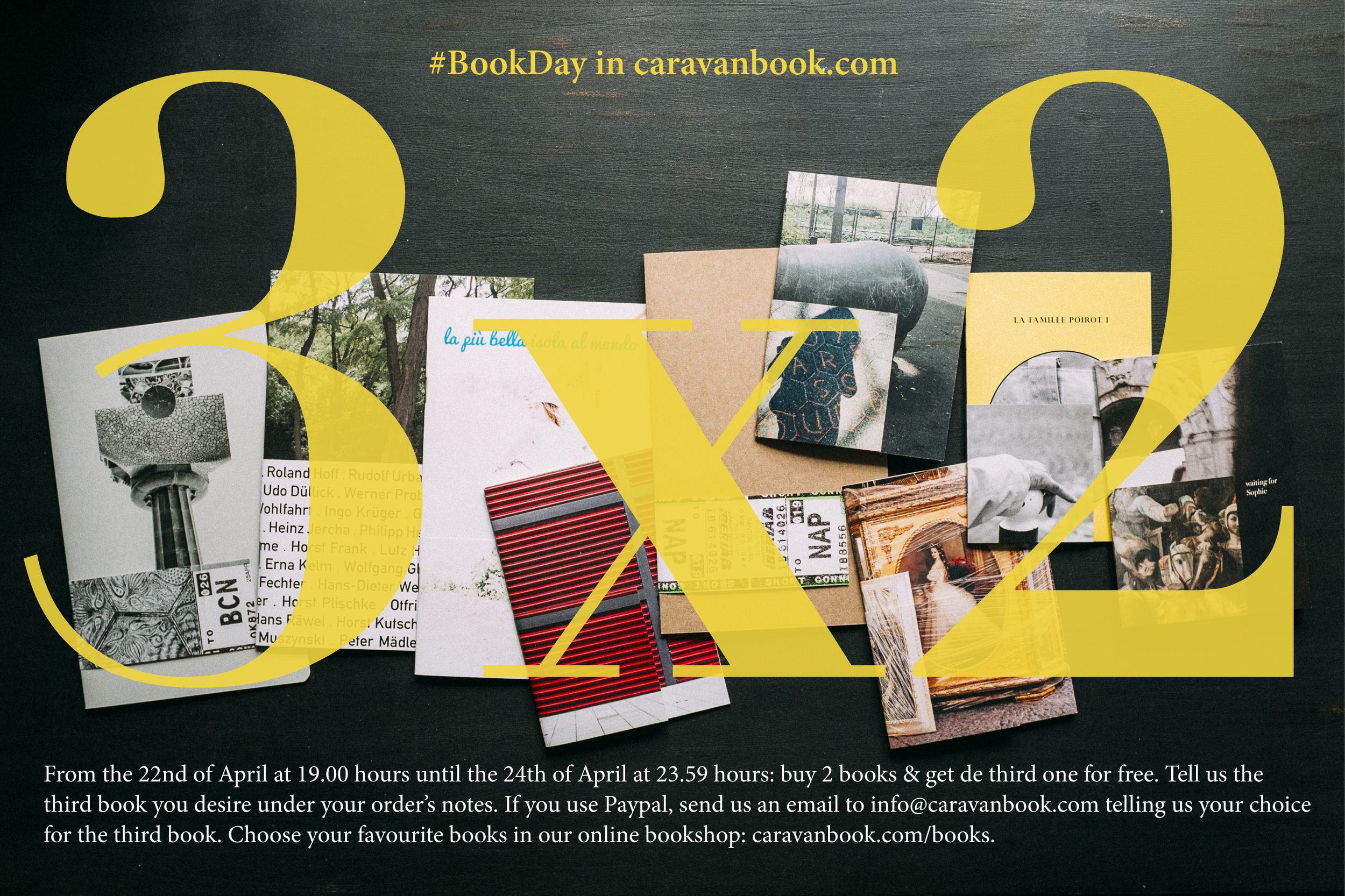 Caravanbook celebrates the #BookDay with a 3x2 offer under their online bookshop.