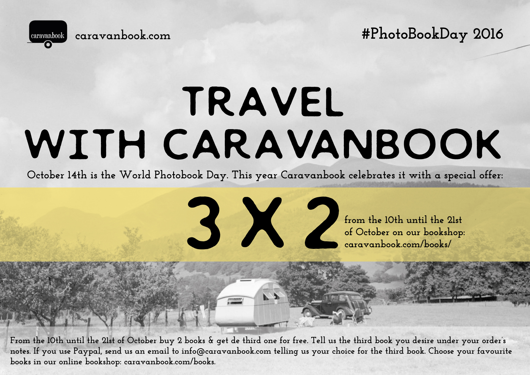 Caravanbook celebrates the World #PhotoBookDay 2016 with a special offer: 3 books per 2 on their online bookshop.