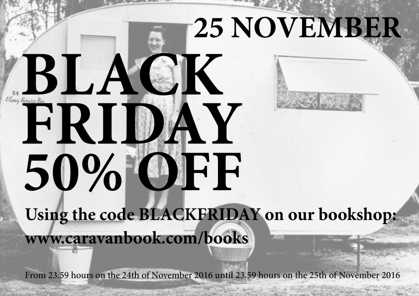 Caravanbook offers 50% off on all of their books during Black Friday 2016