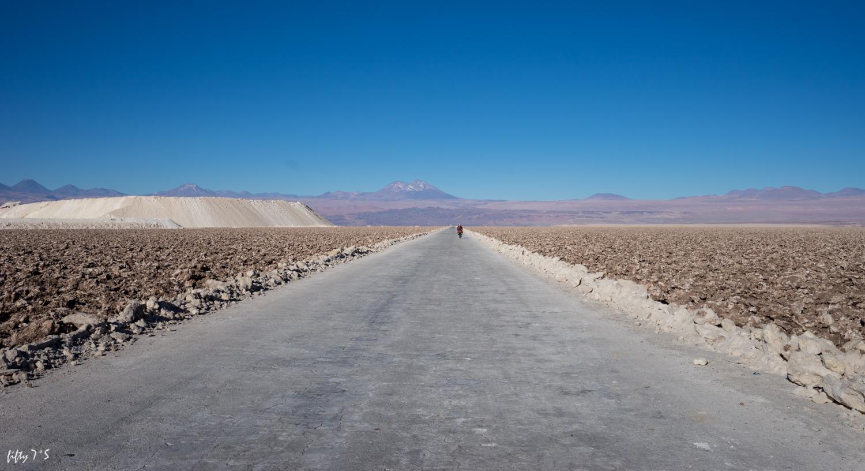 Salar de Atacama. Slight detour around the mine.