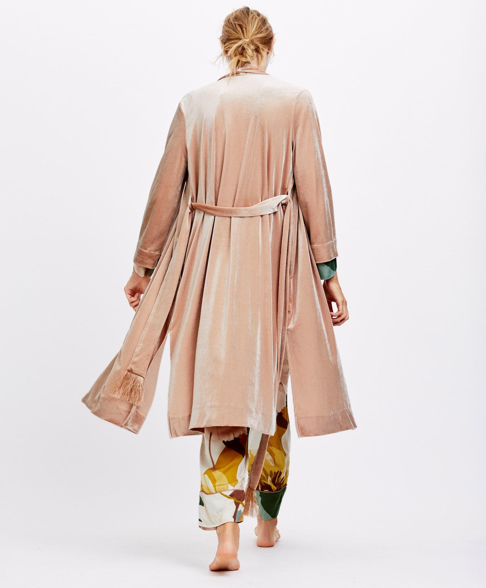 Oysho - Velvet fringe dressing gown€49.99