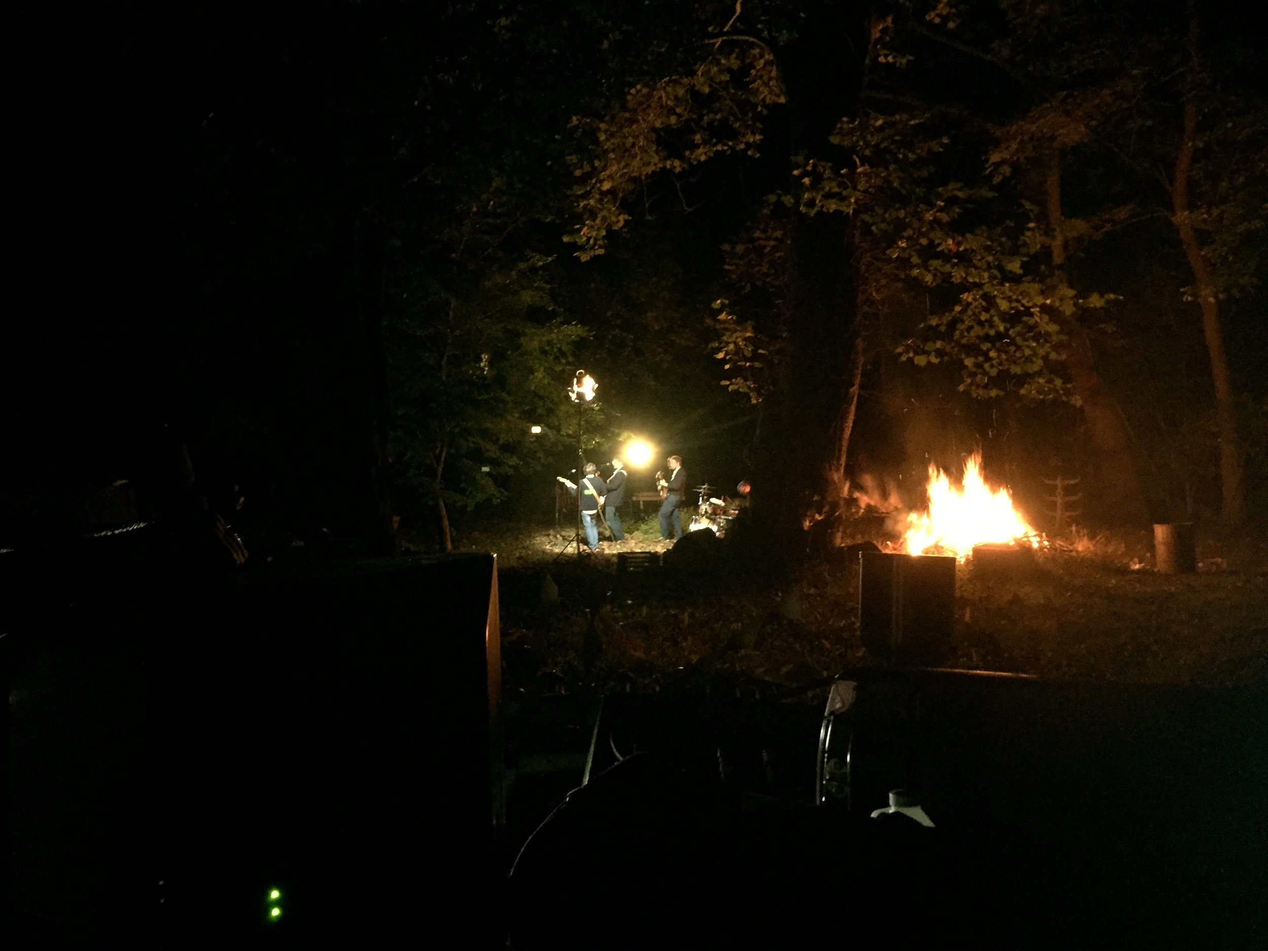 The last part of the shoot was done in the dark at Lenny's Mill. It was quite challenging running the hundreds of feet of power cables, setting up the lights, and maintaining a proper bon fire while barely being able to see what was in front of us.